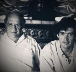 Con Paco Rabal en NAZCA(TVE,1990)